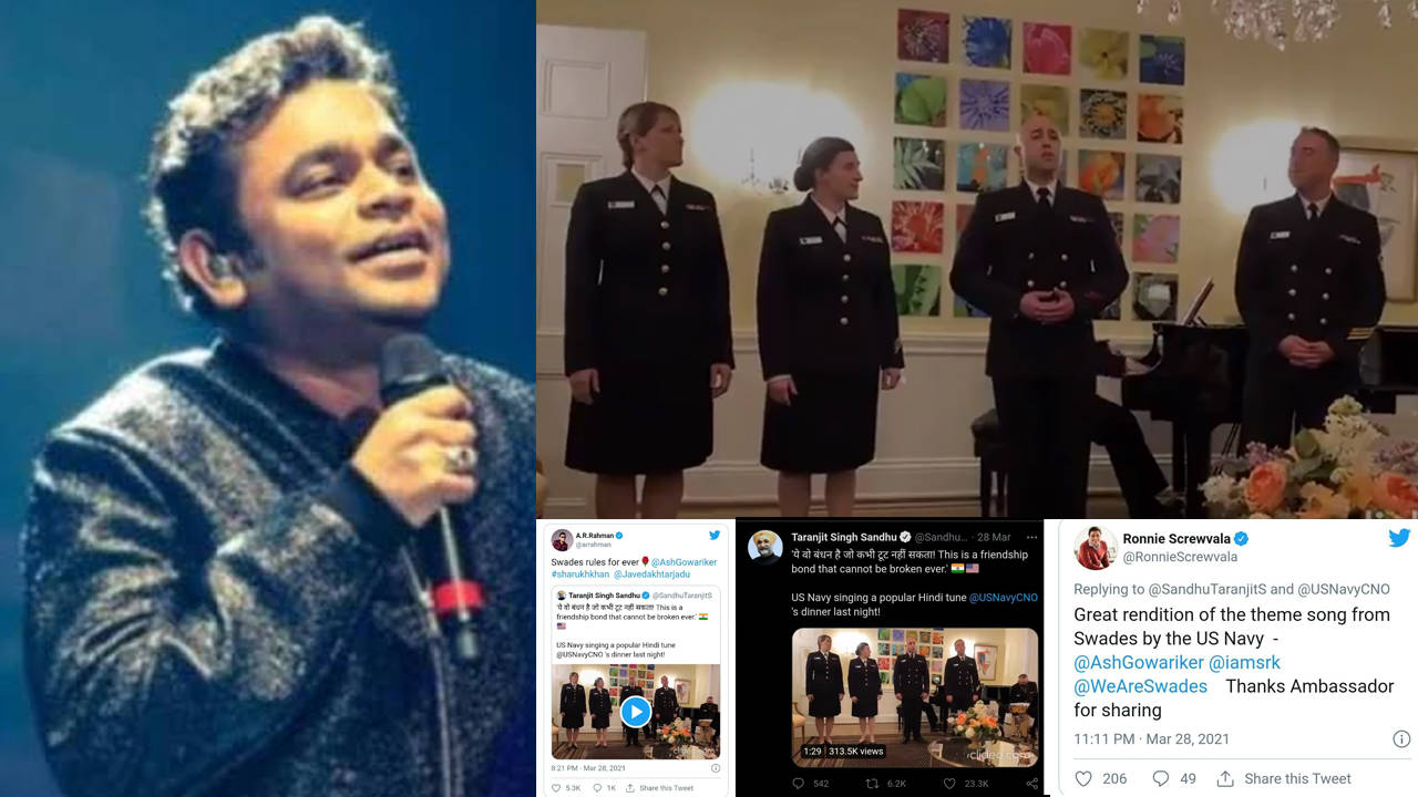 US Navy personnel sing 'Ye Jo Des Hai Tera' from Shah Rukh Khan's 'Swades', music maestro AR Rahman reacts to it   Hindi Movie News – Bollywood – Times of India