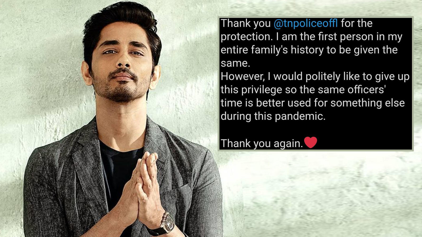 After receiving death threats, Siddharth turns down police protection: 'I would politely like to give up this privilege' | Hindi Movie News – Bollywood – Times of India