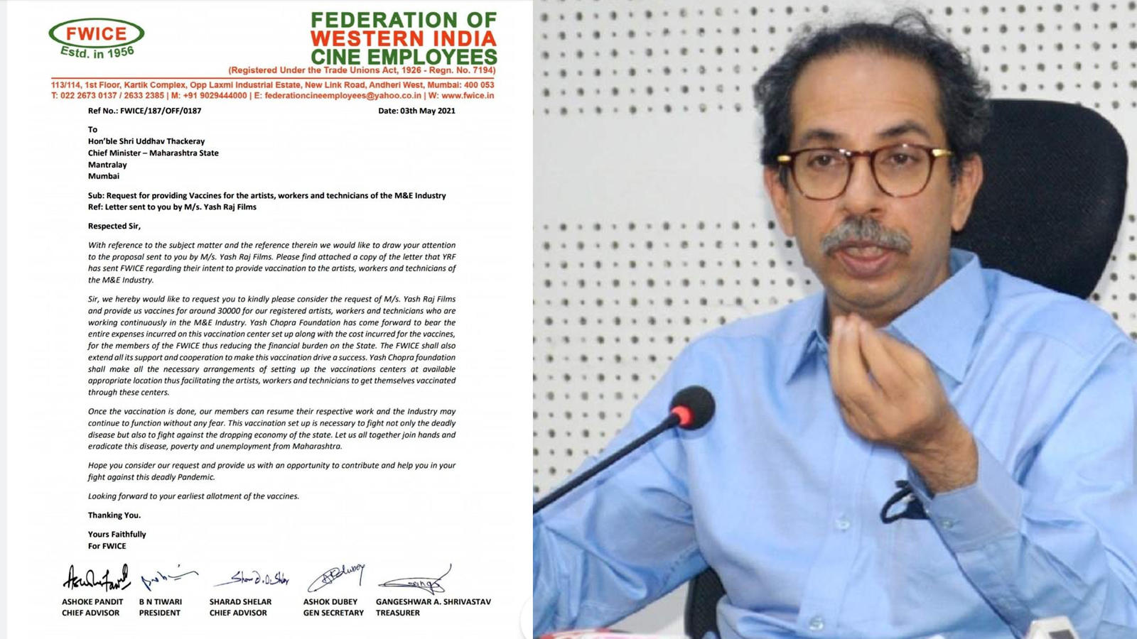 FWICE requests Maharashtra government to provide vaccines for artists, workers and technicians of media and entertainment industry | Hindi Movie News – Bollywood – Times of India