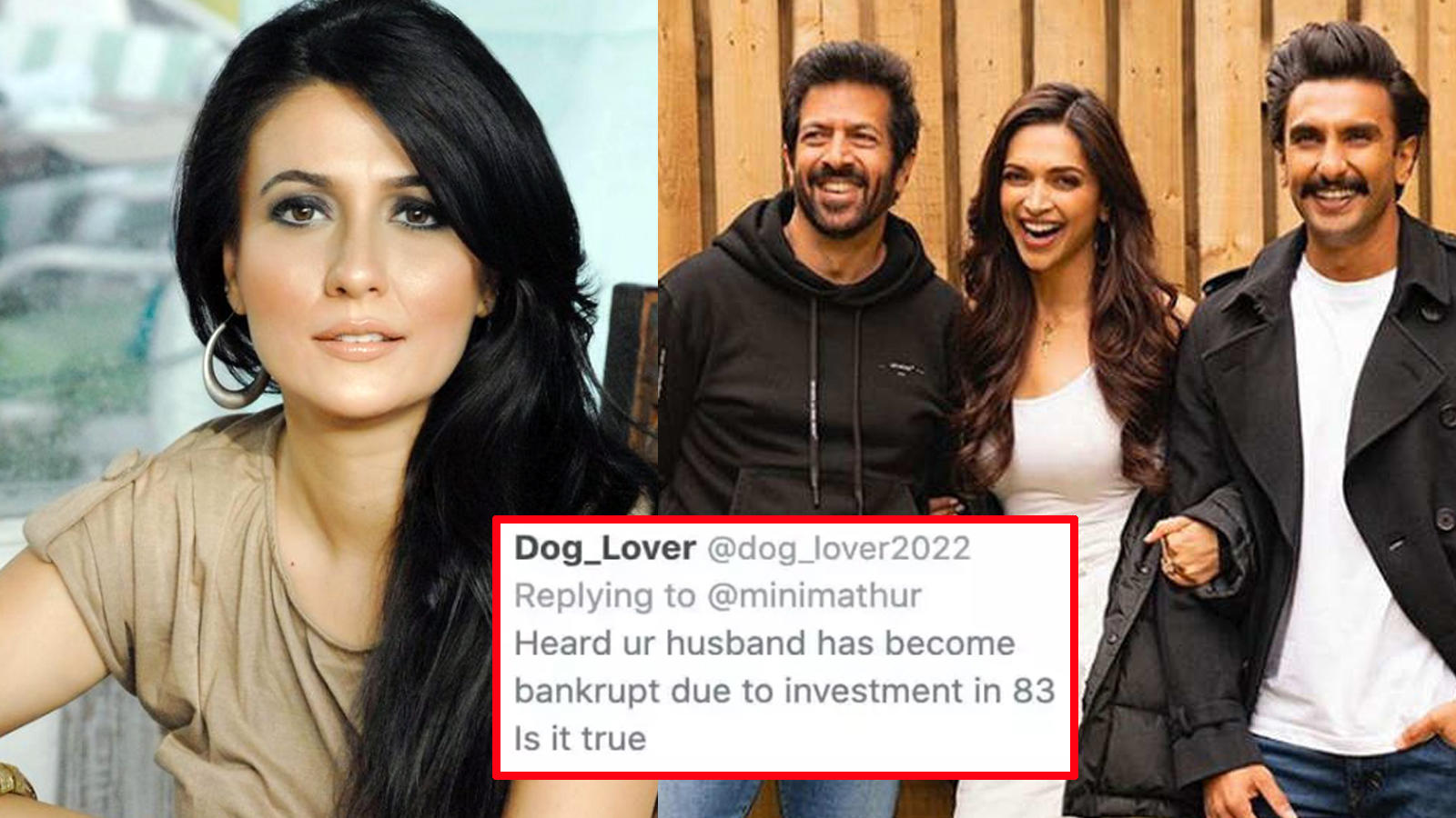 Mini Mathur shuts troll who asked if her 'husband Kabir Khan has become bankrupt due to investment in '83' | Hindi Movie News – Bollywood – Times of India