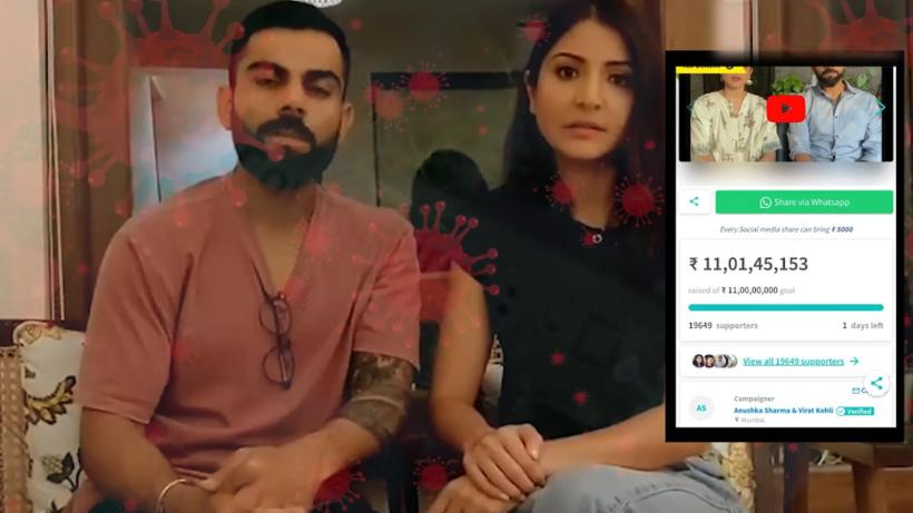 Fight against COVID-19! Anushka Sharma and Virat Kohli hit new fundraising target of Rs 11 crore ahead of schedule | Hindi Movie News – Bollywood – Times of India