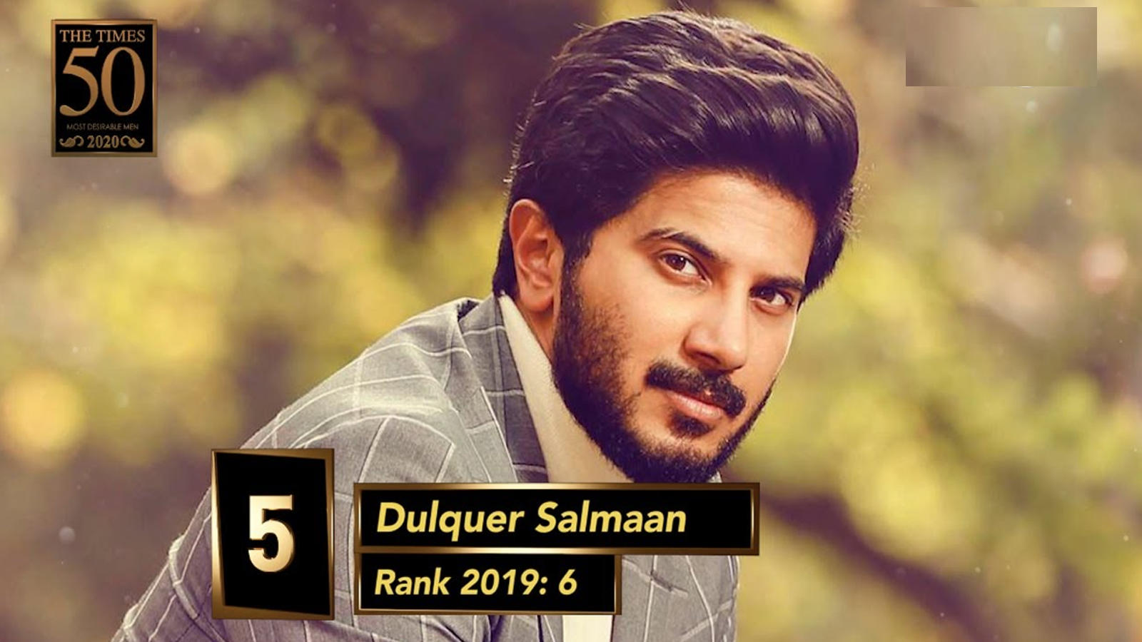 Dulquer Salmaan bags the top spot on the Kochi Times Most Desirable Men's list of 2020   Hindi Movie News – Bollywood – Times of India