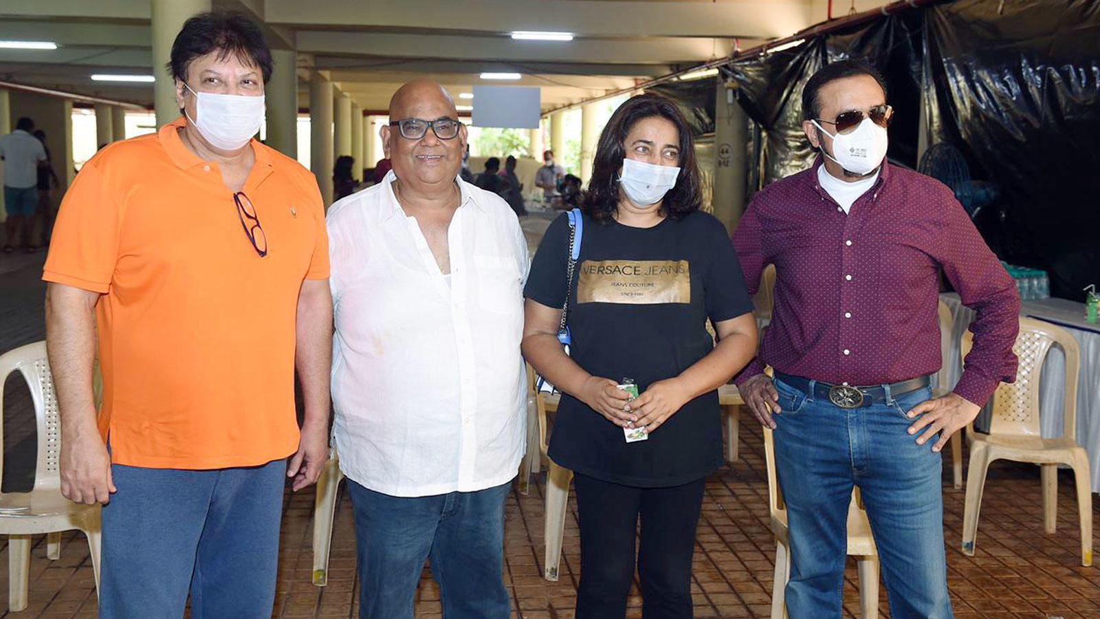 Gulshan Grover and Satish Kaushik spotted at a vaccination drive in Versova | Hindi Movie News – Bollywood – Times of India