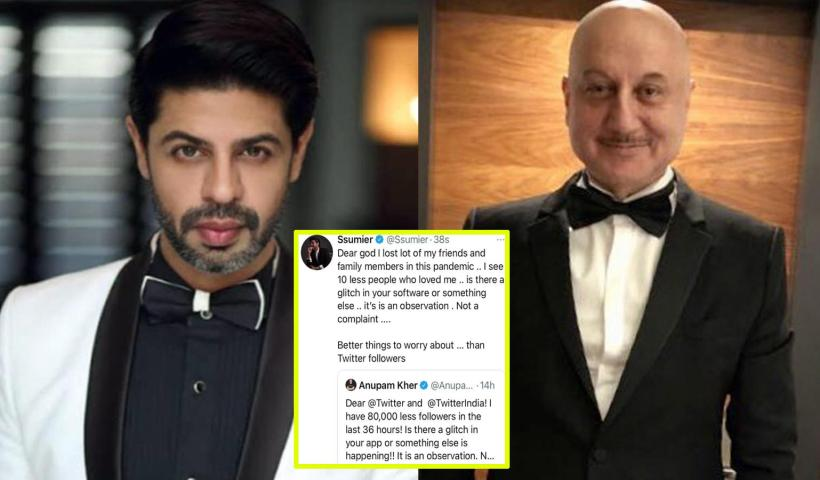 Ssumier Pasricha takes a dig at Anupam Kher for his tweet on losing Twitter followers, writes 'I thought great people think wise' | Hindi Movie News – Bollywood – Times of India