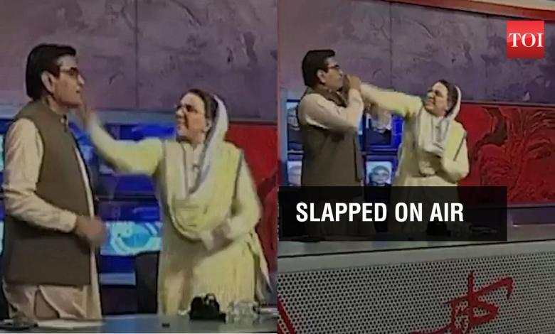 pakistan politicians: On cam: Two Pakistani politicians abuse each other on live TV show | News