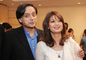 Tharoor hits back at Modi, tweets wife Sunanda is 'priceless'