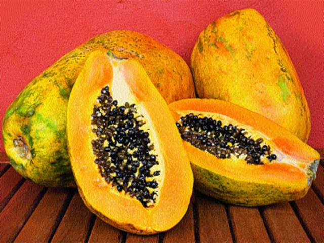 papaya also acts as anti ageging element when it comes to skin care