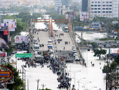 """Google's Crisis Response tool """"South India Flooding"""" important information like emergency helpline numbers and maps of crowdsourced flooded streets."""
