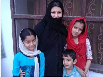 "With a cynical smile over her burqa clad face, Tahira said, ""It was a strange feeling that my three children are Indians but I was not. Now I am going to be an Indian also."""