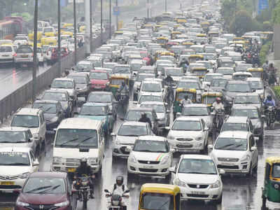 File picture of a congested Delhi road