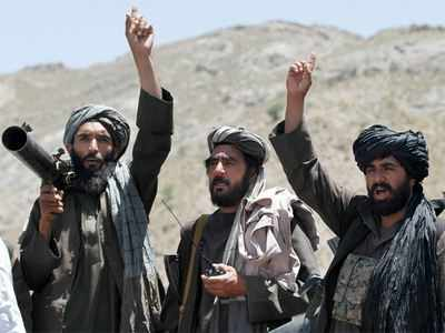 A file picture of Taliban insurgents.