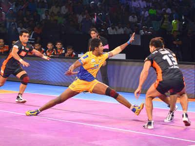 Image result for Vivo Pro Kabaddi: Tamil Thalaivas stun Bengal Warriors 33-32