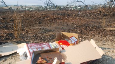 Food provisions were left for firefighters on Black Rail Road in Carlsbad.