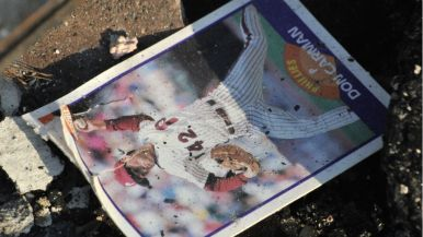 Baseball card barely survived Wednesday night blaze on Black Rail Road in Carlsbad.