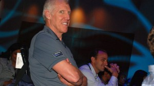 Basketball Hall of Famer Bill Walton was in the audience for Hillary Clinton chat. Photo by Chris Stone