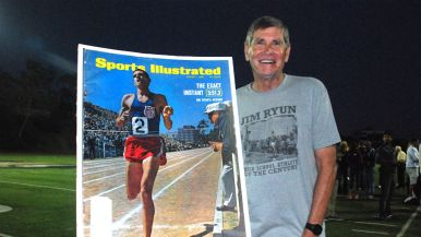 Jim Ryun with one of his many Sports Illustrated covers.