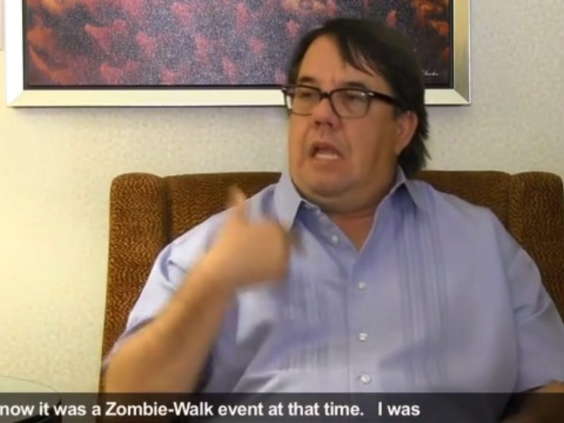 Zombie Walk Accident Driver