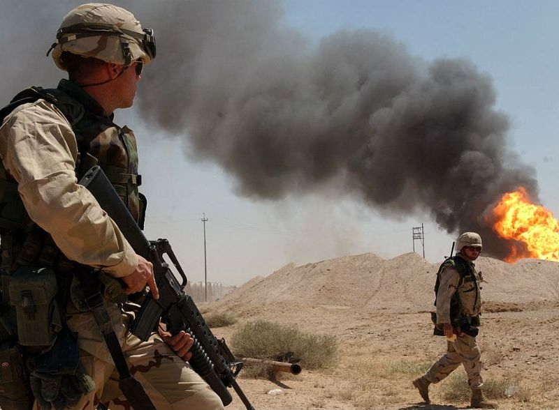 U.S. soldiers in Iraq in 2003