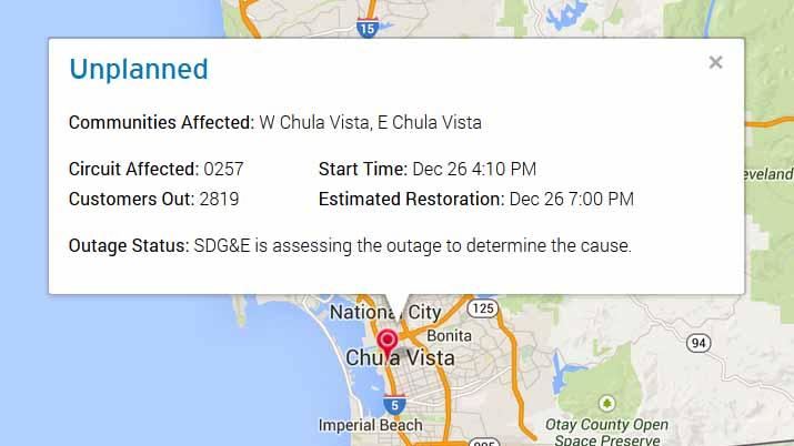 Chula Vista blackout