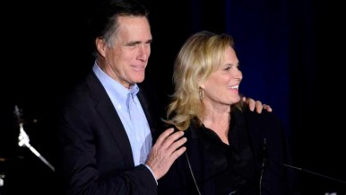 Ann Romney, appearing with Mitt before his speech, thanked Republicans for their help in the 2012 campaign.