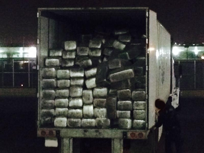 Record 16 Tons of Marijuana Seized from Big Rig in Otay