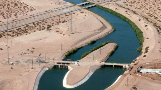 The All American Canal in the Imperial Valley