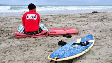 Military members from as far away as Pt. Mugu naval base in Ventura County participated.