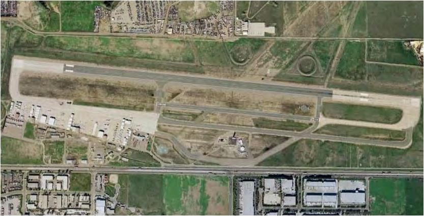 Aerial view of Brown Field