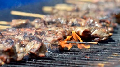 Food was one of the main attractions at the annual Cardiff Greek Festival. Photo by Chris Stone