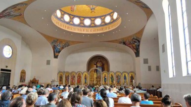 Festival goers were invited to church tours during the festival. Photo by Chris Stone