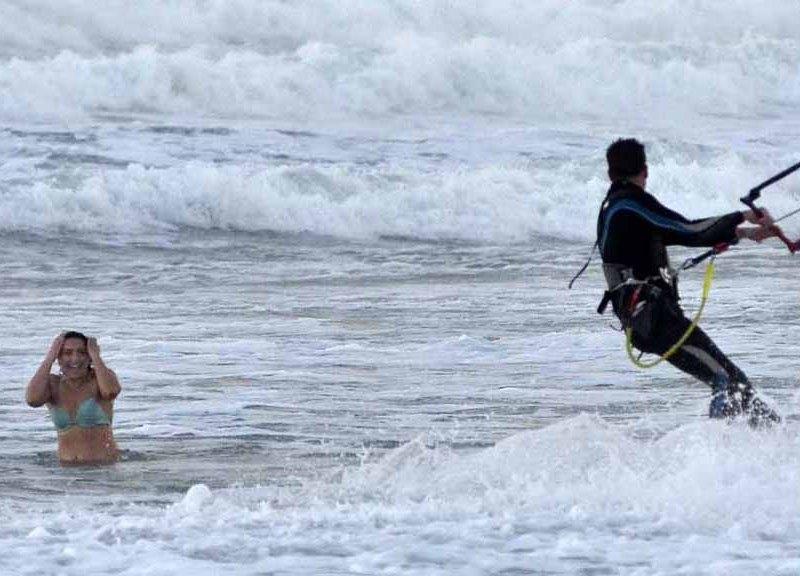 Kite-surfer at Ocean Beach