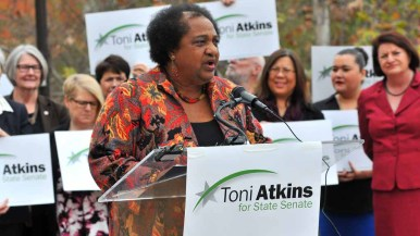 Assemblywoman Shirley Weber shares her thoughts on Toni Atkins. Photo by Chris Stone