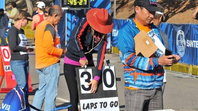 The 50K walk on Mast Boulvard consisted of 40 laps of 1.25 kilometers each. Photo by Ken Stone