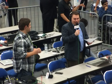 KOGO host and former San Diego Councilman Carl DeMaio at the Donald Trump rally, May 27, 2016. Photo by Ken Stone
