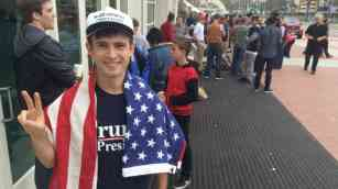 Vaughn Lower, 28, of Kensington was in line at 5 a.m., but wasn't the first. Photo by Ken Stone