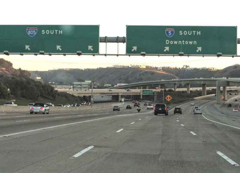 Interstate 5 southbound at Interstate 805