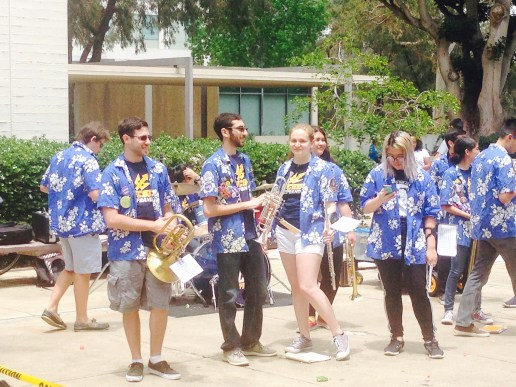 The UCSD Pep Band plays lively music to rile everyone up for the big drop. Photo Credit: Cassia Pollock