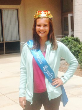 """Karlee Garcia was this year's """"Watermelon Royalty"""" after winning a talent contest. Photo Credit: Cassia Pollock"""