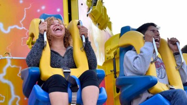 Rides are always popular in the Fun Zone at the San Diego County Fair. Photo by Chris Stone