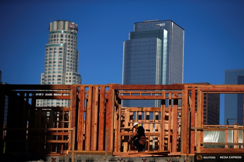 Construction in downtown Los Angeles