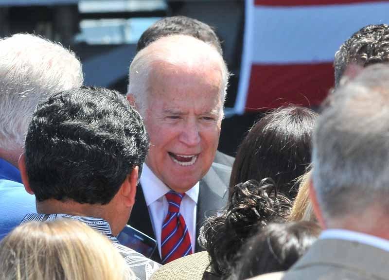 Joe Biden in San Diego in 2016