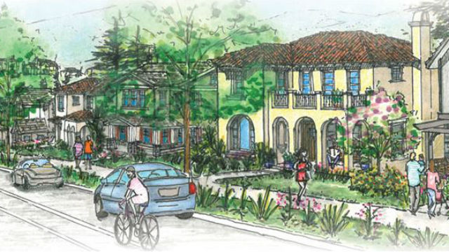 Rendering of homes in Lilac Hills Ranch