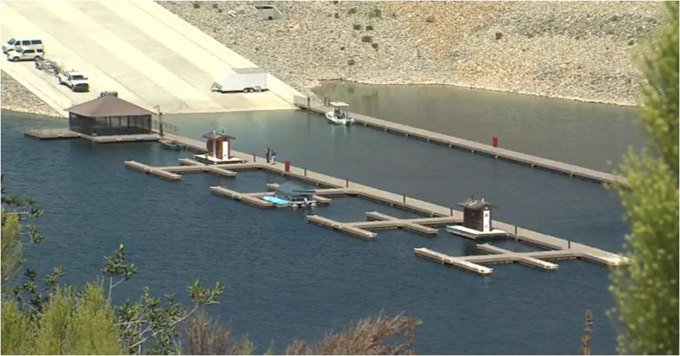 The new boat dock at San Vicente Reservoir.
