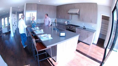 Kitchen area of Van Nuys Street home in north Pacific Beach. Photo by Ken Stone