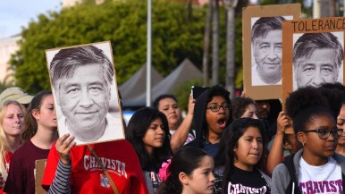 Members of the Cesar Chavez Service Clubs took part in the annual Martin Luther King Parade. Photo by Chris Stone