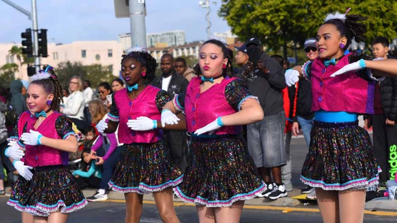 Sherry's Gotta Dance won first place for a drill/step team in the annual Martin Luther King Parade. Photo by Chris Stone