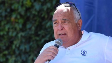 Padres executive chairman Ron Fowler spoke about what is ahead for the team this season. Photo by Chris Stone