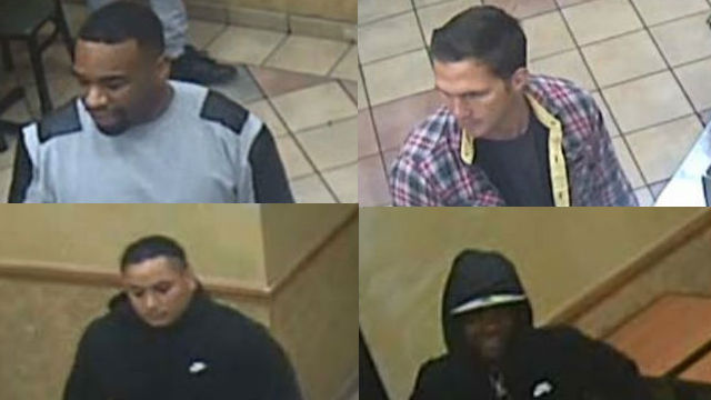 The four persons of interest in the Subway robbery. Images courtesy San Diego Crime Stoppers