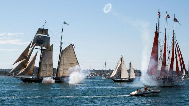 Mock cannon battle