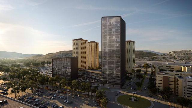 Rendering of NewCity Medical Plaza in Tijuana